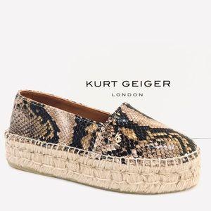 Kurt Geiger Morella Snake Print Leather Espadrille